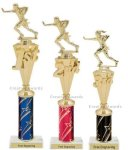 First - Third Place Flag Football Trophies 3 Flag Football Trophies