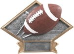 Football - Diamond Plate Resin Trophy Flag Football Trophies