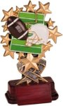 Football - Starburst Resin Trophy Flag Football Trophies