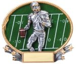 Football 3D Oval Trophy Flag Football Trophies