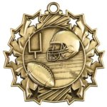 Ten Star Football Medal Football Medals