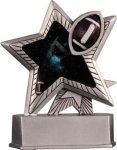 Football - Silver Star Motion Series Resin Football Trophies