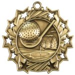Ten Star Golf Medal Golf Medals