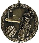 Wreath Medal - Golf Golf Medals