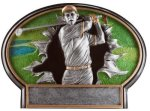 Burst Thru Golf Trophy (Male) Golf Trophies
