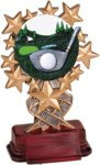 Golf - Starburst Resin Trophy Golf Trophies