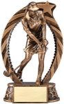 Bronze and Gold Golf , Female Award Golf Trophies