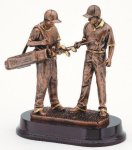 Golfer With Caddie, Male Golf Trophies