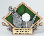 Resin Diamond Plate Golf Golf Trophies