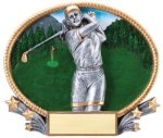 Golf 3D Oval Trophy (Female) Golf