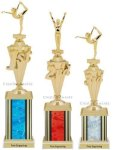 First - Third Place Gymnastics Trophies 4 Gymnastics Trophies