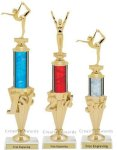 First - Third Place Gymnastics Trophies 2 Gymnastics Trophies