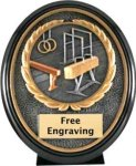 Gymnastics Ebony Oval Trophy Gymnastics Trophies