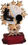 Hockey - Starburst Resin Trophy Hockey Trophies