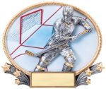 Hockey 3D Oval Trophy Hockey Trophies