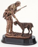 Hunter With Dog Hunting Trophies