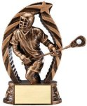 Antique Bronze and Gold Lacrosse, Male Award Lacrosse Trophies