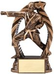 Bronze and Gold Karate, Female Award Martial Arts Trophies