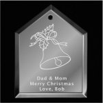 Bell Christmas Ornament Mirror Christmas Ornaments | House