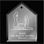 Manger Christmas Ornament Mirror Christmas Ornaments | House