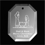 Manger Christmas Ornament Mirror Christmas Ornaments | Octogon