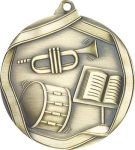 Ribbon Band Medal Music Medals