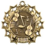 Ten Star Orchestra Medal Music Medals