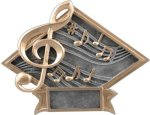 Music - Diamond Plate Resin Trophy Music