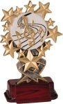 Music - Starburst Resin Trophy Music