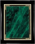 Ebony Green Marble Mist Plaque Piano Finish Ebony Plaques