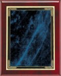 Rosewood Blue Marble Mist Plaque Piano Finish Rosewood Plaques
