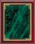 Rosewood Green Marble Mist Plaque Piano Finish Rosewood Plaques