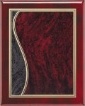 Rosewood Sienna Swirl Plaque Piano Finish Rosewood Plaques
