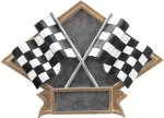 Racing - Diamond Plate Resin Trophy Pinewood Derby Trophies