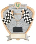 Signature Series Racing Flags Shield Award Pinewood Derby Trophies