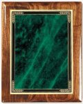 Walnut Gloss Plaque - Green Marble Mist Recognition Plaques