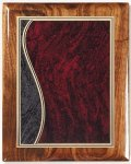 Walnut Gloss Plaque - Sienna Swirl Recognition Plaques