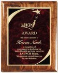 Walnut Gloss Plaque - Red Star Sweep Recognition Plaques