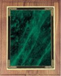 Walnut Plaque - Green Marble Mist Recognition Plaques