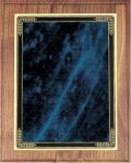Walnut Plaque - Blue Marble Mist Recognition Plaques