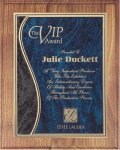Walnut Plaque - Blue Swirl Recognition Plaques