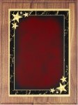 Walnut Plaque - Red Star Achievement Recognition Plaques