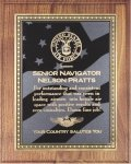 Walnut Plaque - US Flag Recognition Plaques