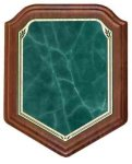 Shield Green Heritage Walnut Plaque Recognition Plaques