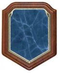 Shield Blue Heritage Walnut Plaque Recognition Plaques