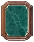 Scallop Walnut Plaque - Green Recognition Plaques