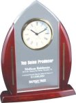 Cathedral Acrylic Clock Award Rosewood clocks
