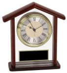 Glass & Rosewood Piano Finish Steeple Clock Rosewood clocks
