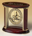 Skeleton Clock with Brass and Rosewood Piano Finish Rosewood clocks