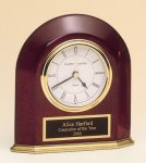 Rosewood Piano Finish Arched Desk Clock Rosewood clocks